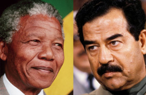 Daddy, I want to be a leader – like Nelson Mandela or Saddam Hussein.