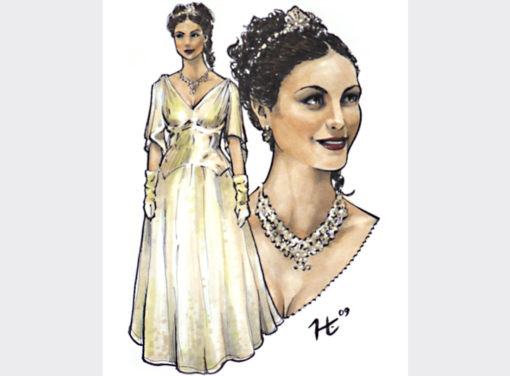 Portrait of Morena Baccarin in her role as Inara from Firefly. Done in a sketchbook for a huge fan of the TV show at the San Diego Comicon. Roughly 5 x 7, Pigma Micron pens and Copic Markers.